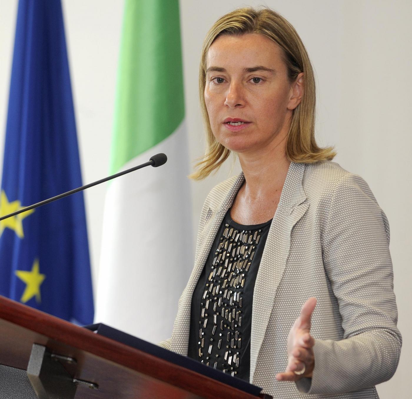Federica Mogherini incontra  Nikola Poposki a Skopje