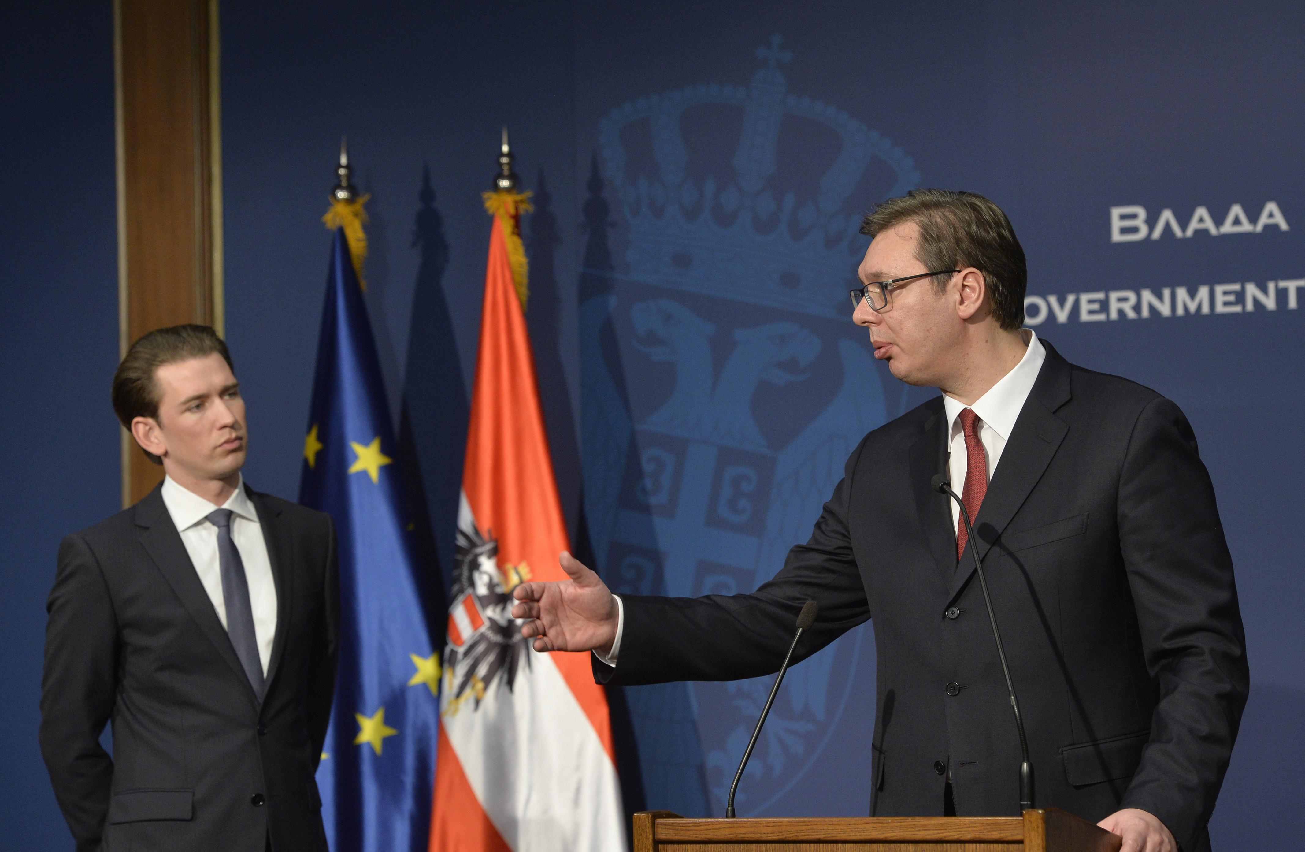 Image result for Kurz Vučić