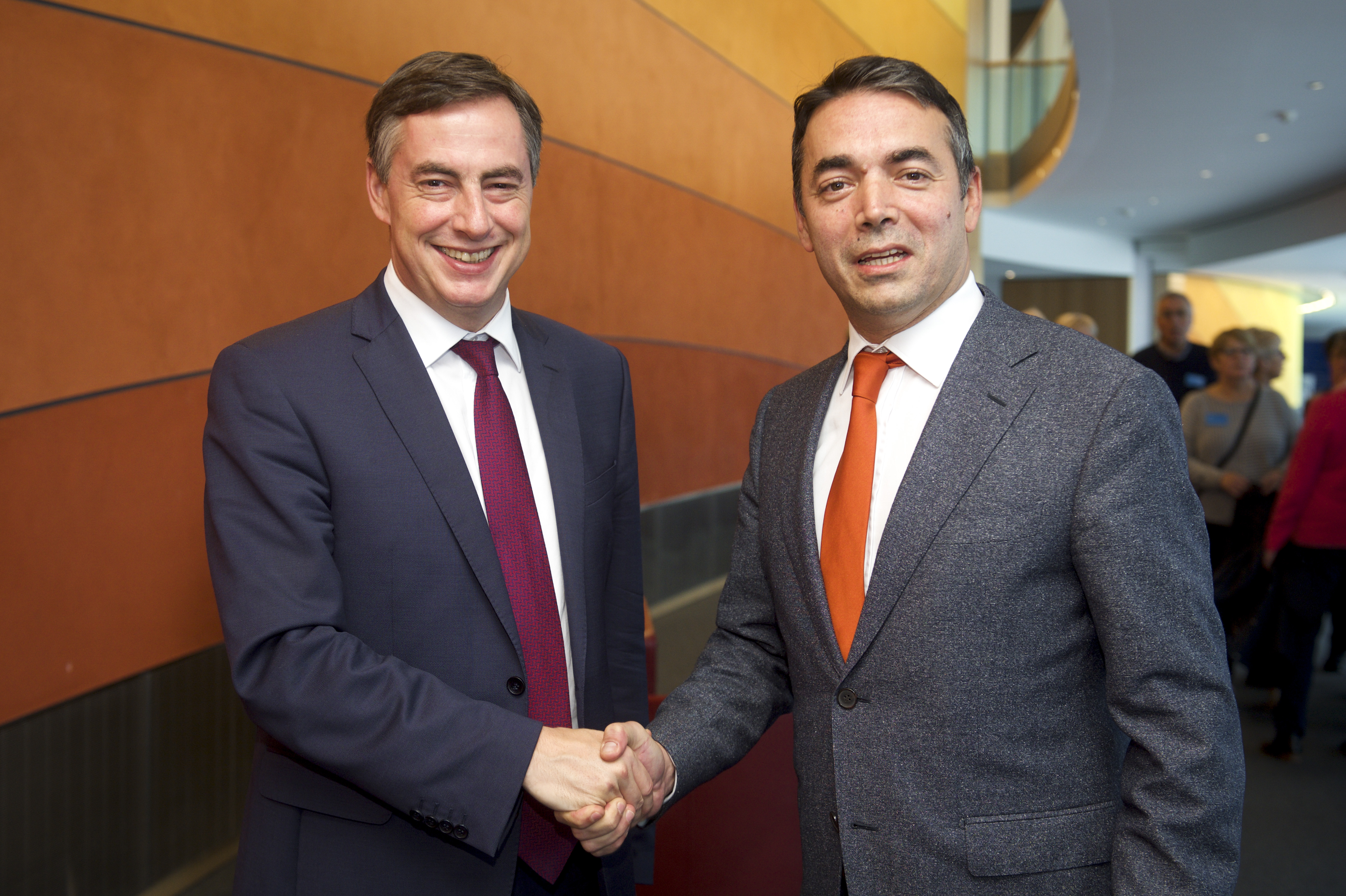 David McAllister and Nikola Dimitrov; AFET committee meeting - Exchange of views with Foreign Minister of the former Yugoslav Republic of Macedonia; Photo: European Union