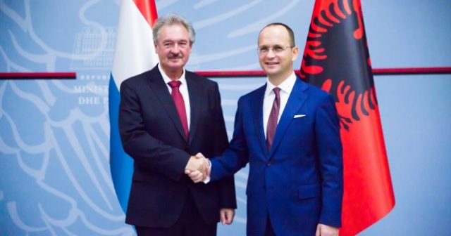 Jean Asselborn and Ditmir Bushati; Photo: Ministry for Europe and Foreign Affairs of Albania